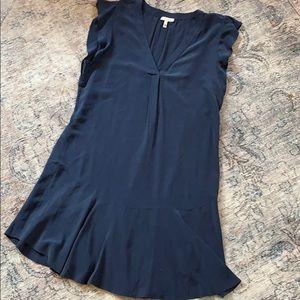 Joie silk dress, size M, ruffle cap sleeve and hem